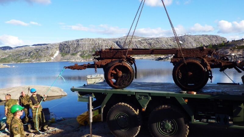 W Norwegii wydobyto zestawy historycznych lawet