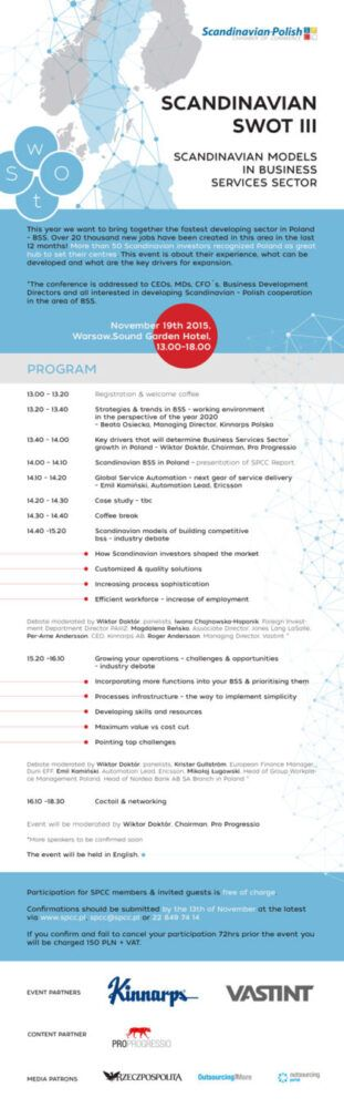 Scandinavian SWOT - konferencja