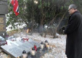 Polacy pochowani w mogile na cmentarzu w Oslo